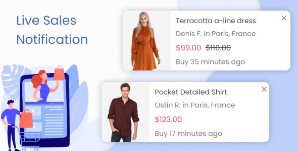 Live Sales Notification. Recent Order Popups