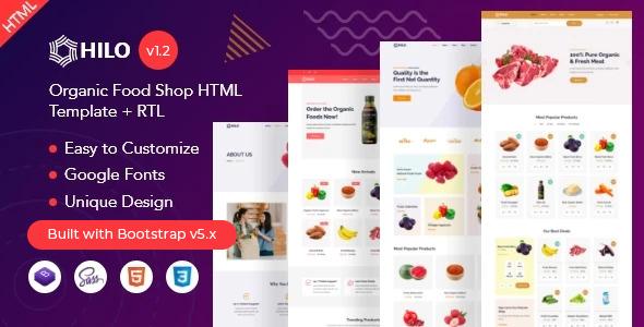 Hilo - Organic Food Shop HTML Template