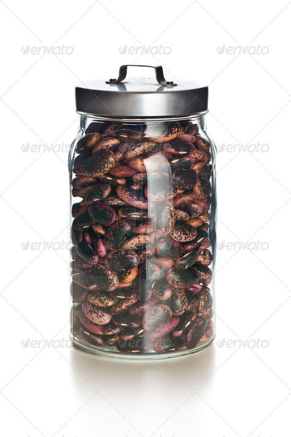 red beans in a jar - Stock Photo - Images