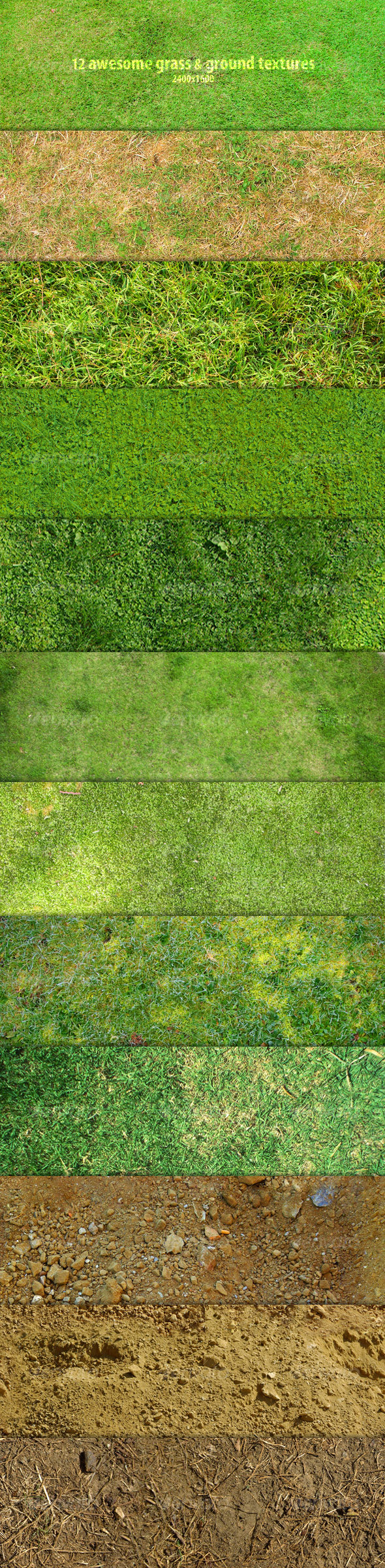 12 Grass & Ground Textures - Nature Textures