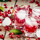 Fresh sparkling water with ice and pomegranate, selective focus - PhotoDune Item for Sale