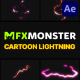 Cartoon Lightning Elements | After Effects - VideoHive Item for Sale