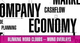 Blinking Word Cloud Overlays + Alpha