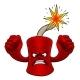 Firecracker Dynamite Cartoon Firework Mascot