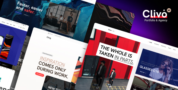 Clivo - Portfolio & Agency WordPress Theme