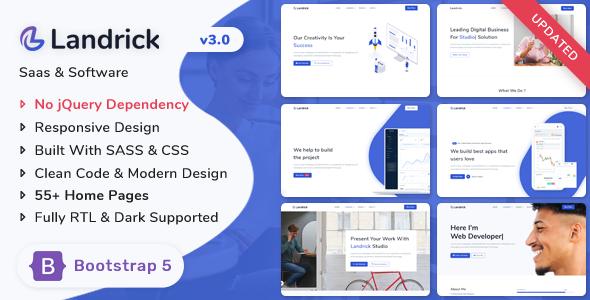 Landrick – Saas & Software Landing Page Template