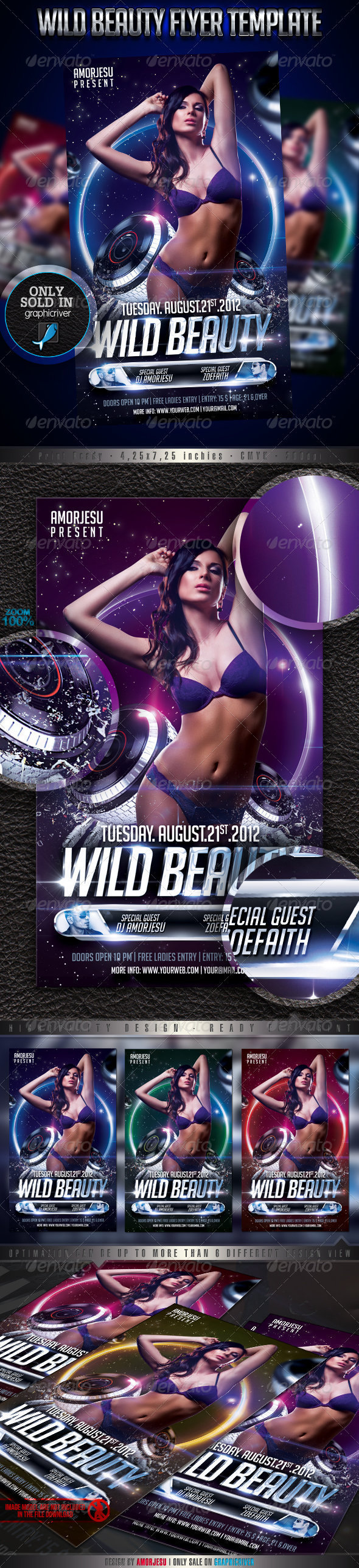 Wild Beauty Flyer Template - Events Flyers