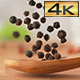 Black Pepper on Olive Wood Spoon - VideoHive Item for Sale