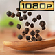 Black Pepper on Wooden Spoon - VideoHive Item for Sale