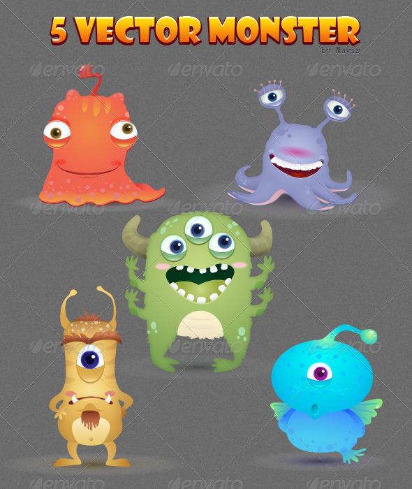 5 Vector Monster