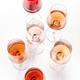 Rose wine glasses set on wine tasting - PhotoDune Item for Sale