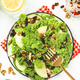 Kale salad with dried cranberry, green apples and walnuts. Healthy vegan food - PhotoDune Item for Sale