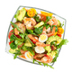 Salad with avocado, shrimp and arugula in glass bowl isolated on white - PhotoDune Item for Sale