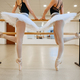 Elegant ballerinas, exercise at the barre in class - PhotoDune Item for Sale