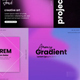 Typography gradient post instagram - VideoHive Item for Sale
