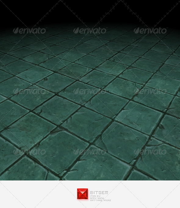 Stone Floor Tile 08 - 3DOcean Item for Sale