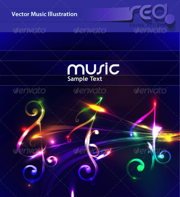 Colorful Music Note_2 - Decorative Symbols Decorative