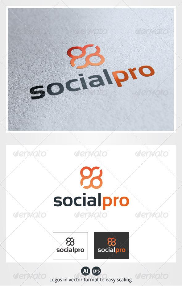 Social Pro Logo - Symbols Logo Templates