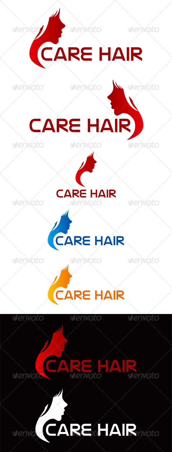 Care Hair Logo - Humans Logo Templates