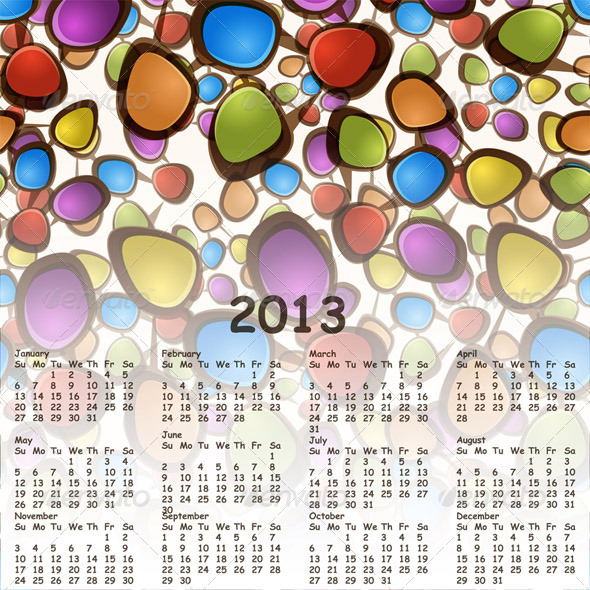 2013 Calendar - New Year Seasons/Holidays