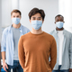 Diverse group of international people wearing medical masks - PhotoDune Item for Sale