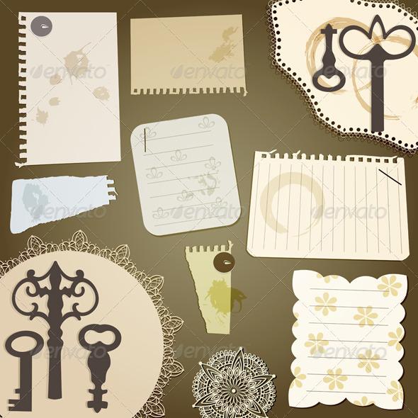 Vecto Scrapbook Design Elements - Decorative Symbols Decorative