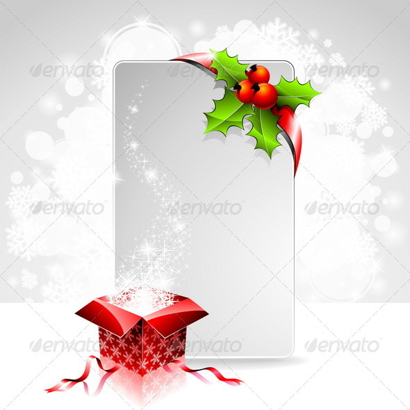 Vector Holiday Illustration on a Christmas Theme - Christmas Seasons/Holidays