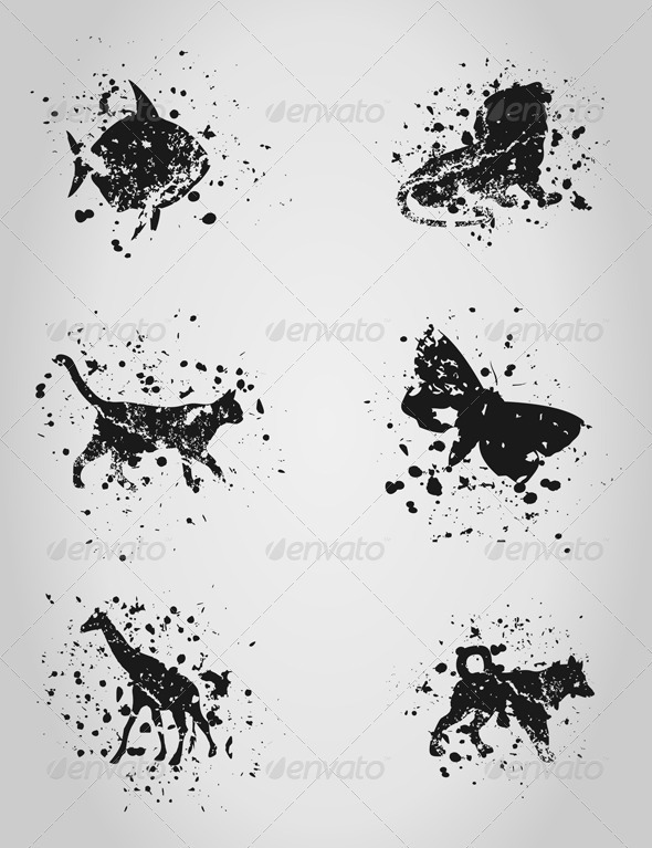 Animal a blot - Animals Characters