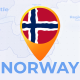 Norway Map - Kingdom of Norway Travel Map - VideoHive Item for Sale