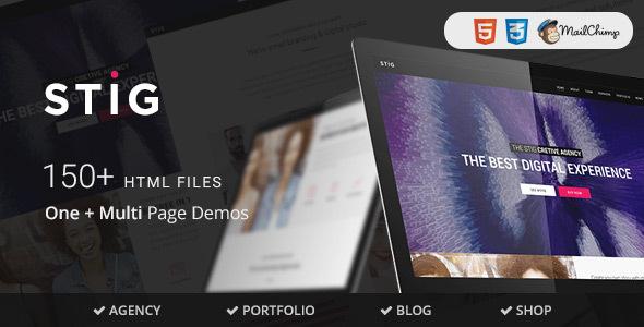 Beautiful Stig - Multipurpose One/Multi Page Template