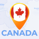 Canada Map - Canadian Travel Map - VideoHive Item for Sale