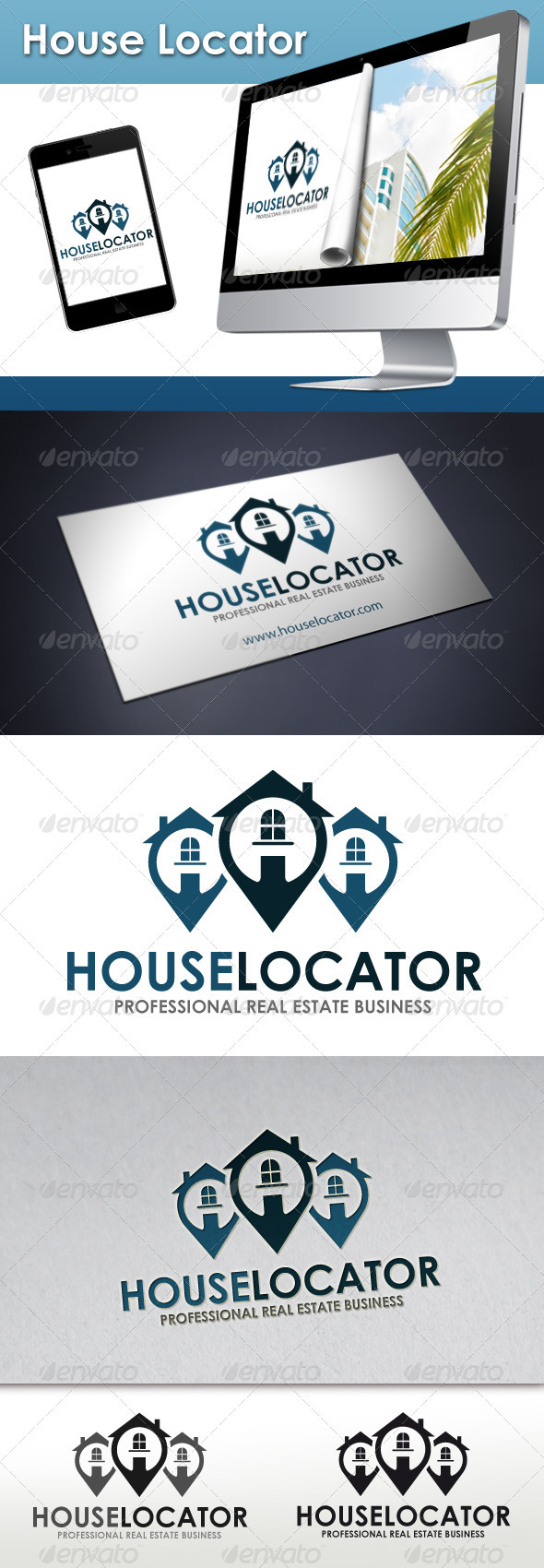 Real Estate Locator Logo - Buildings Logo Templates