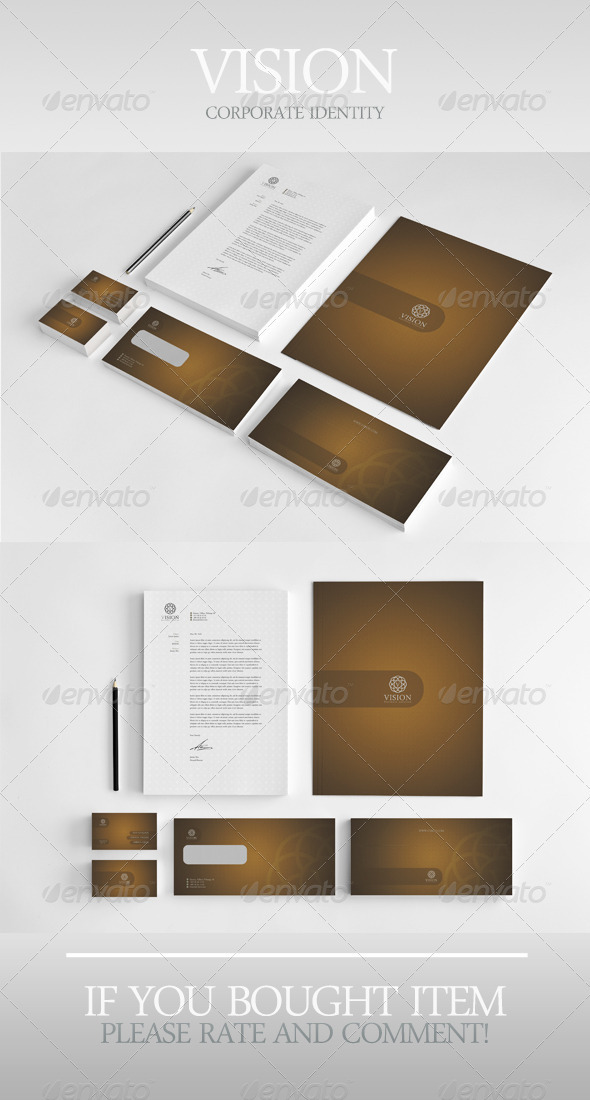 Vision Corporate Identity - Stationery Print Templates