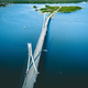 Aerial view of cable-stayed Replot Bridge, suspension bridge in Replotvägen, Korsholm, Finland - PhotoDune Item for Sale