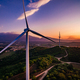 Wind Turbines Windmill Energy Farm at sunset in Italy - PhotoDune Item for Sale