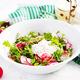 Vegetarian vegetable salad of radish and arugula with sour cream. Healthy vegan food. - PhotoDune Item for Sale