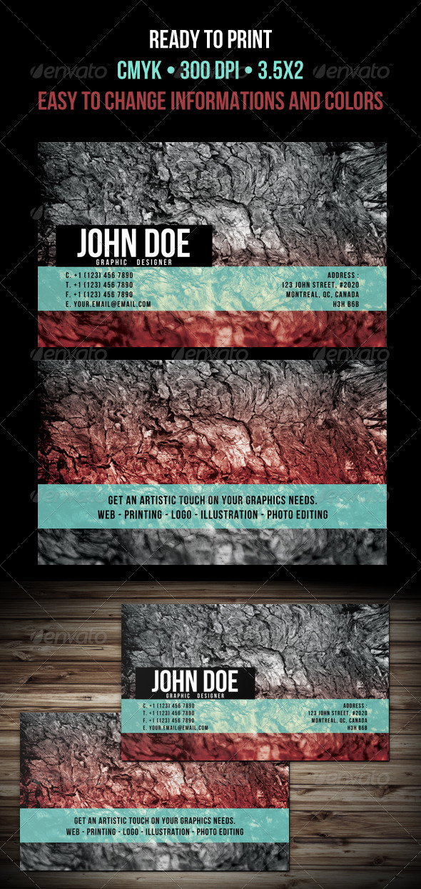 Beautiful Business Cards - Grunge Business Cards