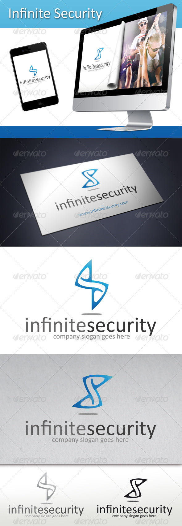 Infinite Security Logo - Letters Logo Templates