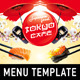 Japanese Menu Template - GraphicRiver Item for Sale
