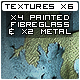 x4 Painted Fibreglass x2 Metal Textures - GraphicRiver Item for Sale