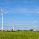 Wind power turbines and power lines - PhotoDune Item for Sale