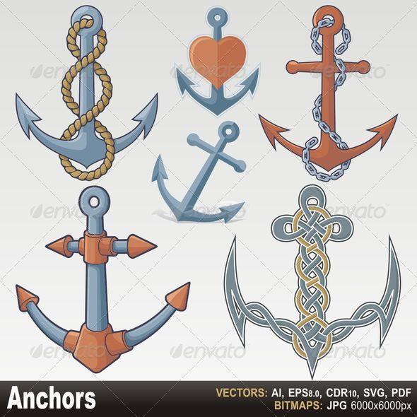 Anchors - Objects Vectors