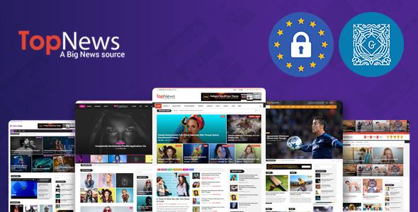 TopNews - News Magazine Newspaper Blog Viral & Buzz WordPress Theme by  codexcoder