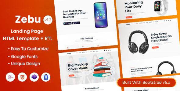 Fabulous Zebu - Multipurpose Landing Page HTML Template