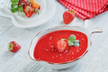 A Bowl of Strawberry Soup Gazpacho with Mint - PhotoDune Item for Sale
