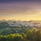 Urbino city and contryside landscape at sunset. Marche region, Italy. - PhotoDune Item for Sale