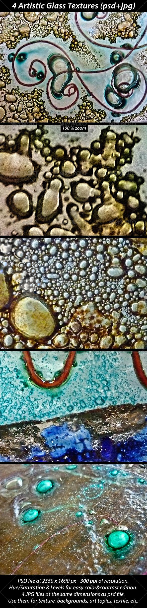 4 Artistic Glass Textures - Art Textures