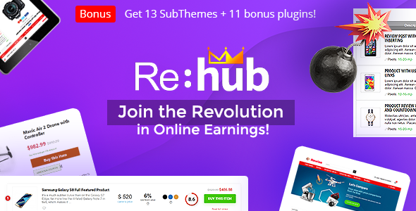Excellent REHub - Price Comparison, Multi Vendor Marketplace, Affiliate Marketing, Community Theme