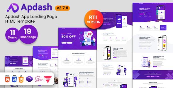 Apdash - App Landing Page Template