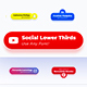 Rounded Social Media Lower Thirds - VideoHive Item for Sale